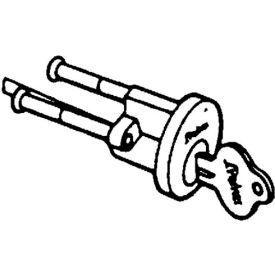 Solid Brass Rim Cylinder - Polished Brass Keyed Different - Pkg Qty 20