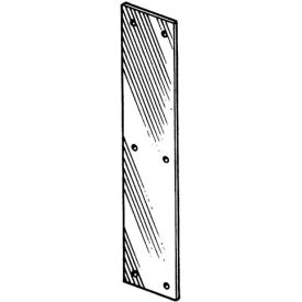 """Push Plate - Stainless Steel 3"""" X 12"""" - Pkg Qty 10"""