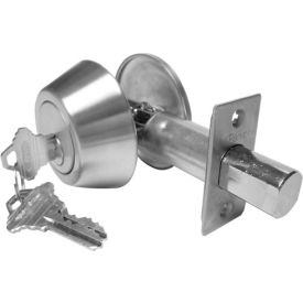 Hd Solid Bar Double Cylinder Deadbolt - Stainless Steel Keyed Different - Pkg Qty 3