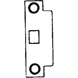 ANSI Template Strike Small Opening - Zinc Plated Bulk Pack w/o Screws - Pkg Qty 50