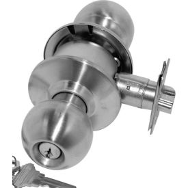 Cylindrical Entry Lock - Polished Brass Keyed Different - Pkg Qty 5