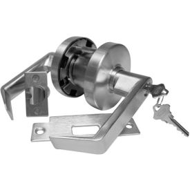 Leverset w/ Single Step Roses Entry Lock - Dull Chrome Clutch Keyed Different