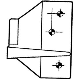 Overlapping Strike - Zinc Plated For Ul523/Ul524 - Pkg Qty 5