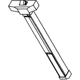 "Rim Reversible Panic Device - For Doors 25"" - 48"" Wide Aluminum"