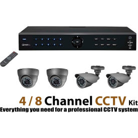 COP Security DVR Recorder Kit, DVR04V2DK-1, 4 Channel, With 1 TB Hard Drive