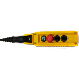 T.E.R., F70AY12000200001 MIKE Pendant, 4 Button, Yellow, 2-Speed Buttons