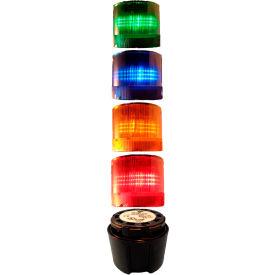 Springer Controls / Texelco LA-TCL94SF5632 70mm Complete Light Stack, 120V LED, BLK Term, G-B-A-R