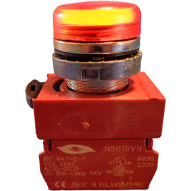 Springer Controls N5CLAD-120, Pilot Light - Amber - 120V Bulb with Power Supply AC/DC