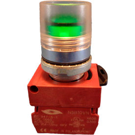 Springer Controls N5CPLAED10-24, Illuminated Push Button, Momentary, Guarded (24V, 1N.O.) - Amber - Pkg Qty 2