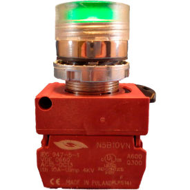 Springer Controls N5CPLAGD10-24, Illuminated Push Button, Momentary, Flush (24V, 1N.O.) - Amber - Pkg Qty 2