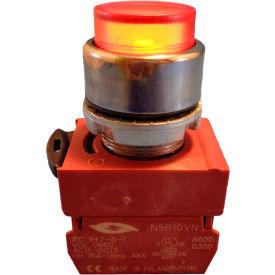 Springer Controls N5CPLASDFD Press-To-Test Pilot Light Amber, AC/DC, 24V Bulb
