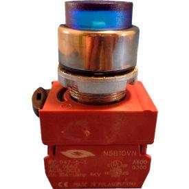Springer Controls N5CPLLSDFJ Press-To-Test Pilot Light Blue, AC/DC, 120V Bulb