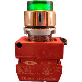 Springer Controls N5CPLVSD10-120, Illuminated Push Button, Momentary, Extended (120V 1N.O) - Green - Pkg Qty 2