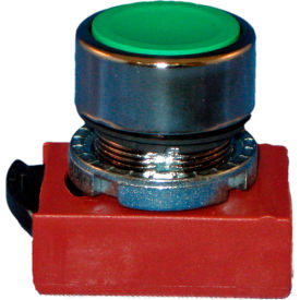 Springer Controls N5CPNRG01, Flush-Momentary Push-Button Red, w/ Contact-Shown in Green