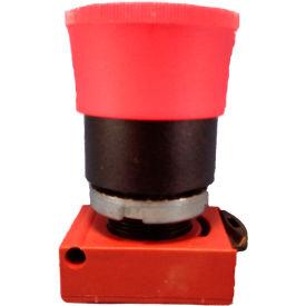 Springer Controls N5XER4RAW01, Mushroom Head-Push-Button w/Latch & status windows, Red, w/Contact