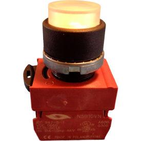 Springer Controls N5XPLISDTN Press-To-Test Pilot Light Clear, AC, 220-250V Transformer