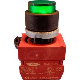 Springer Controls N5XPLVSDFD Press-To-Test Pilot Light Green, AC/DC, 24V Bulb