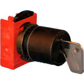 Springer Controls N5XSCE0N95, 22mm, 3-Position Key Selector with Contacts, 1-0-2, KEY REMOVAL: 0,2