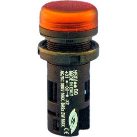 Springer Controls N5XUADDD-24L, Unibloc Pilot Light - Amber - 24V LED AC/DC