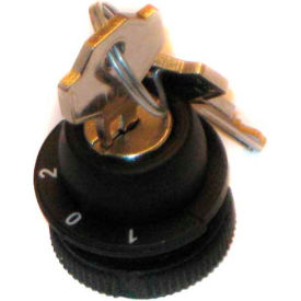 T.E.R., PRSL1870PI 1/0/2 Maintained Position Keyed Selector Switch, Use w/ MIKE & VICTOR Pendants
