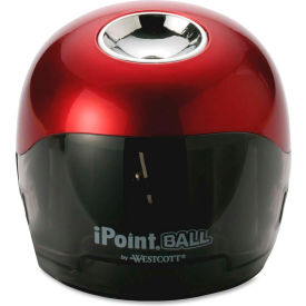 "Acme United Battery Pencil Sharpener, 3""x3""x3-1/2"", Red/Black by"