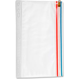 "Anglers Zip-All Ring Binder Pockets, 6""W x 9-1/2""H, Clear, 1/PK by"