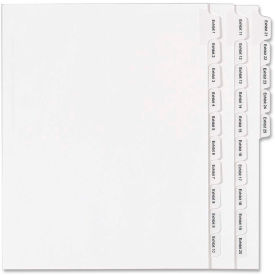 """Avery Legal Exhibit Numeric Index Divider, Printed Exhibit 1 to 25, 8.5""""x11"""", 1 Tab/25 Sets, White by"""