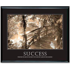 """Advantus® Motivational """"Success"""" Poster, 78161, 30""""W X 24""""H, Black Frame"""