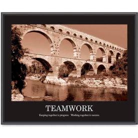 "Advantus® Motivational ""Teamwork"" Poster, 78162, 30""W X 24""H, Black Frame"