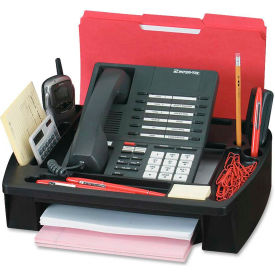 "Compucessory Telephone Stand/Organizer 11-1/2"" x 9-1/2"" x 5"" Black"