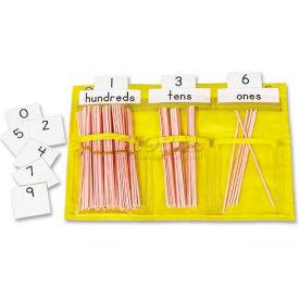 "Carson-Dellosa® Counting Caddie Pocket Chart, 5616, 3 Pockets, 12-1/2""W X 9-1/2""H, Yellow"