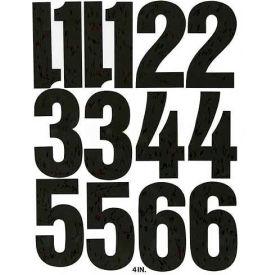 "Chartpak Vinyl Numbers, CHA01193, 4""H, Black, Helvetica Font, 23 Pcs"
