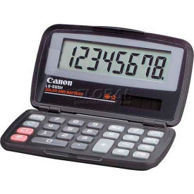 "Canon 8-Digit Pocket Calculator, Dual Power, LS555H, 4-1/3"" X 2-2/3"" X 3/5"", Black by"