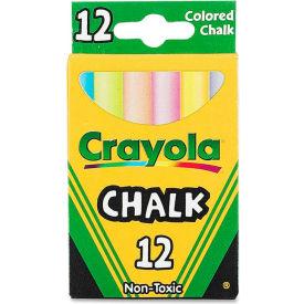 Crayola Colored Chalk - Assorted, 12/Box