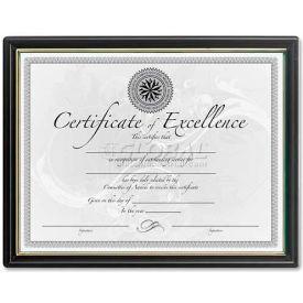 """DAX Certificate Frames, DAXN1188N5, 8.5"""" x 11"""", Black & Gold Frame, 1 Each"""
