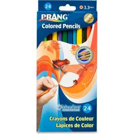 Prang Colored Pencils, Assorted Lead, Assorted Barrel, 24/Set
