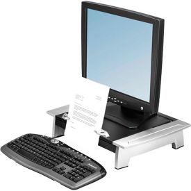 "Fellowes® Monitor Riser, 8036601, W/Copy Holder, 19-7/8"" X 14-1/16"" X 4-6-1/2"", Black"