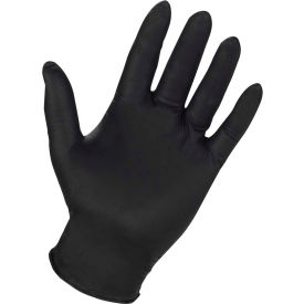 ProGuard Industrial Grade Nitrile Gloves, 4 mil, Powder Free, Black, L, 100/Box