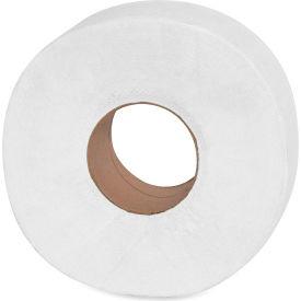 "Genuine Joe Jumbo Roll Bath Tissue 2 Ply 9"" Dia. 3-1/7"" x 1000' 12 Rolls/Case White - GJO2510012"