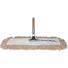 """Genuine Joe Dust Mop, w/ Handle, 24"""" Frame, 60"""" Handle, GJO54101"""