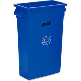 "Genuine Joe Recycling Container 23 Gal. 30""H X 22-1/2""W Blue/White - GJO57258"