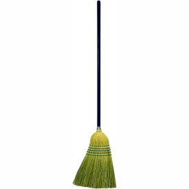 "Genuine Joe Janitor Broom, Corn Fiber Blend, 11"" W, 58"" Handle, Natural, GJO12001EA"