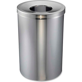 Genuine Joe Open Mouth Waste Receptacle 30 Gal. Stainless Steel - GJO58895