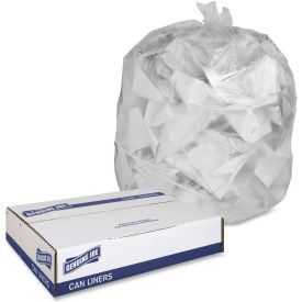 "Genuine Joe Can Liners, 40-45 Gal., 10mic, 40""x46"",Translucent, 250/Pk, GJO70013"