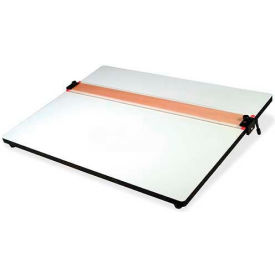 """Helix Parallel Straight Edge Drawing Board, HLX37179, 18""""W x 24""""L, White Plastic by"""