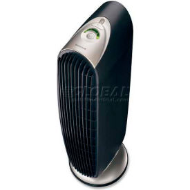 Honeywell HWLHFD120Q Quiet Clean Tower Air Purifier, 3 Cleaning Levels, Black/Silver