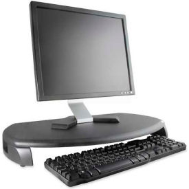 "Kantek CRT/LCD Stand W/Keyboard Storage, MS280B, 23"" X 13-1/4"" X 3"", Black"
