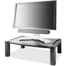 "Kantek Monitor Stand Deluxe, MS500, Wide, 20"" X 13-1/4"", Adjust, Black"