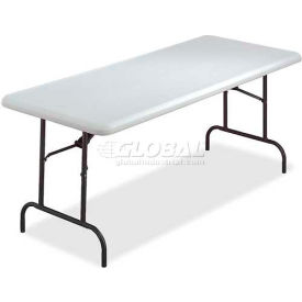 "Lorell® Ultra-Lite Folding Table, 96""L x 30""W x 29""H, Platinum"