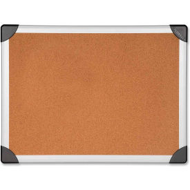 "Lorell Cork Board with Silver Frame, 48""W x 36""H"